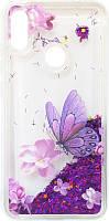 Накладка Xiaomi Redmi Note7 violet baterfly аквариум