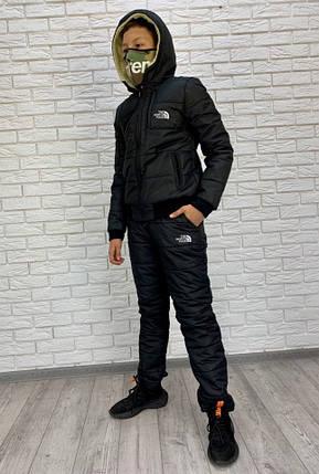 """Подростковый стеганый костюм на синтепоне """"The North Face"""" с капюшоном, фото 2"""