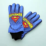 Перчатки зимние Super Man для мальчика тм Nicklodeon размер 7-8, 9-10, 11-12 лет
