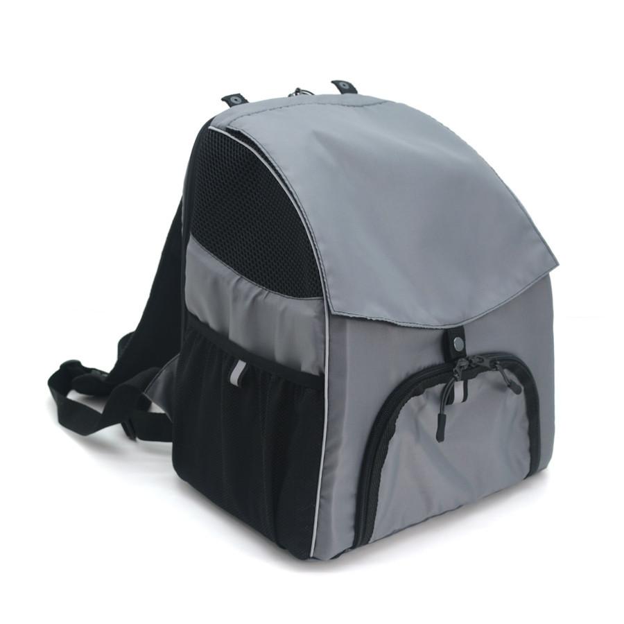 Рюкзак для переноски котов и собак Турист №0 16 х 26 х 30 см серый