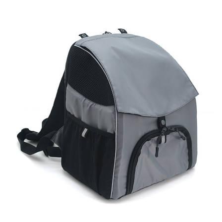Рюкзак для переноски котов и собак Турист №0 16 х 26 х 30 см серый, фото 2