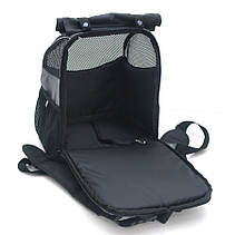 Рюкзак для переноски котов и собак Турист №0 16 х 26 х 30 см серый, фото 3