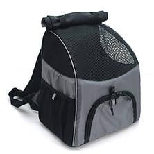 Рюкзак для переноски котов и собак Турист №1 20 х 30 х 33 см серый, фото 3
