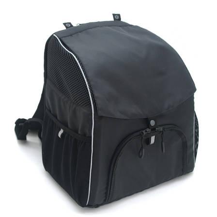 Рюкзак для переноски котов и собак Турист №0 16 х 26 х 30 см черный, фото 2