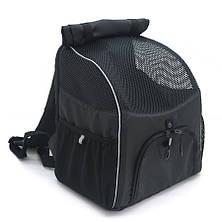 Рюкзак для переноски котов и собак Турист №0 16 х 26 х 30 см черный, фото 3