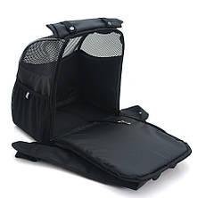 Рюкзак для переноски котов и собак Турист №2 25 х 35 х 40 см черный, фото 3