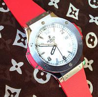 Наручные женские часы Hublot Big Bang, часы Хаблот красные