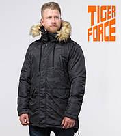Tiger Force 71450 | Парка мужская зимняя черная