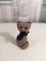 Мягкая вязанная игрушка для детей Котенок 8.5см
