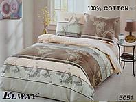Сатиновое постельное белье ELWAY 5051 (евро)
