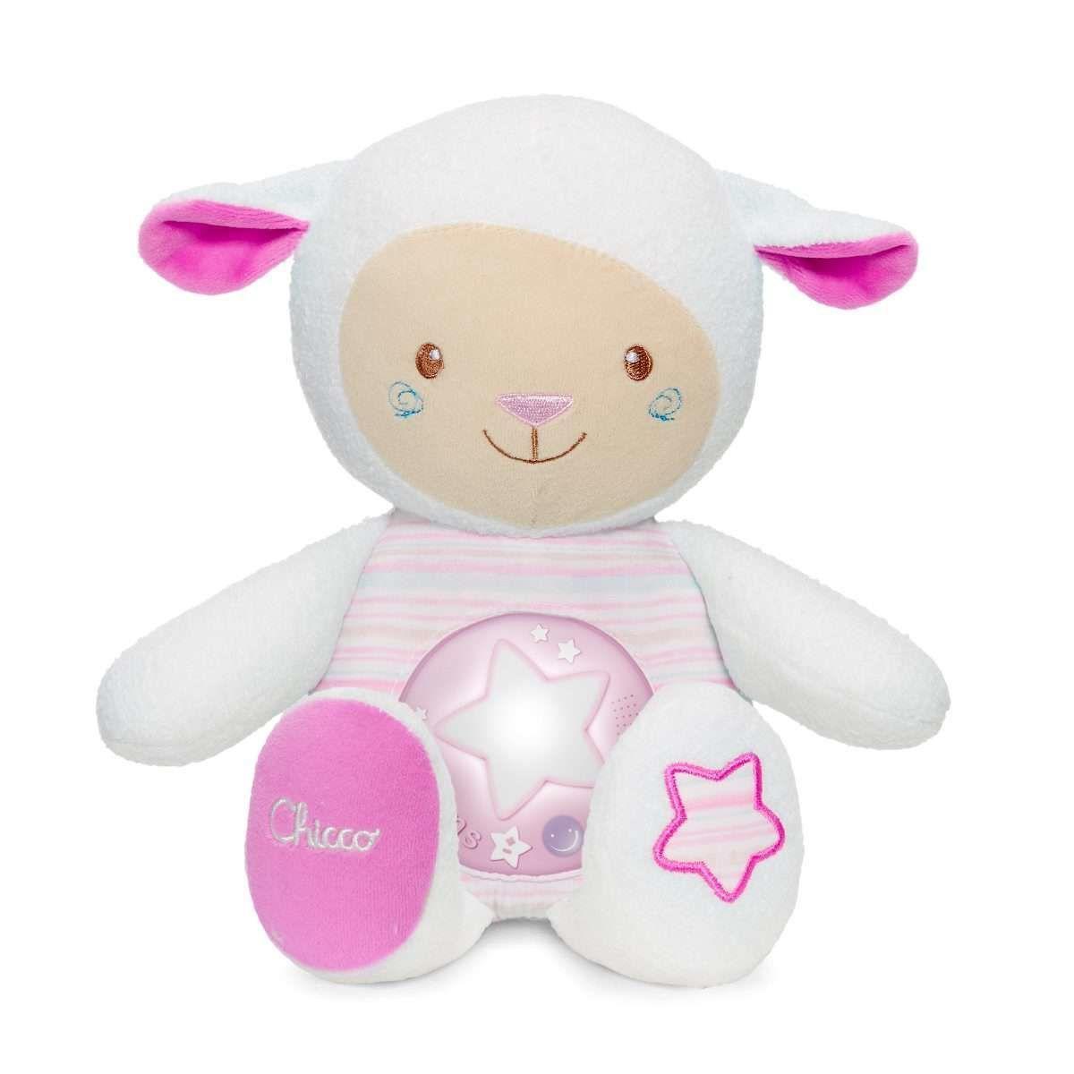 Ночник игрушка Овечка Chicco розовый 90901