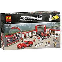 "Конструктор Bela 10947 ""Гараж Ferrari"" (аналог Lego Speed Champions 75889), 883 дет, фото 1"