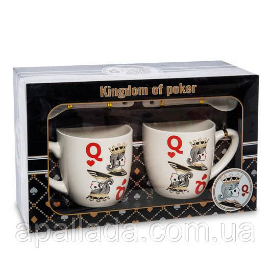 """Набор из 2-х кружек в подарочной коробке """"Kingdom of poker"""""""