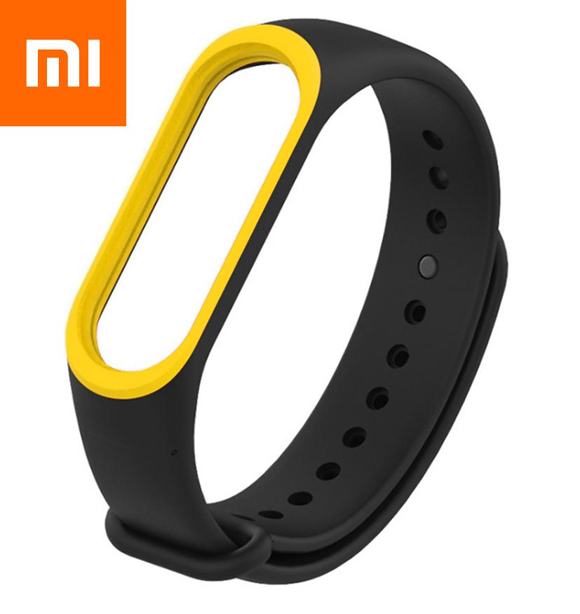 Ремешок для Xiaomi Mi Band 4 Черно-Желтый Оригинальное Качество