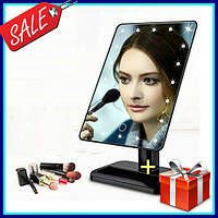 Зеркало для макияжа с подсветкой Magic Makeup Mirror 22 лампы, косметическое LED зеркало мейкап миррор черное