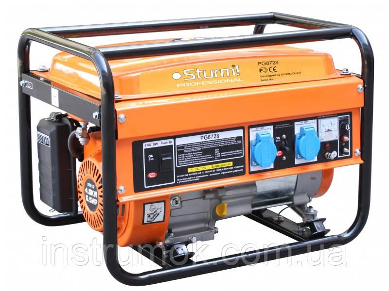 Генератор бензиновый 2,8 кВт Sturm PG8728