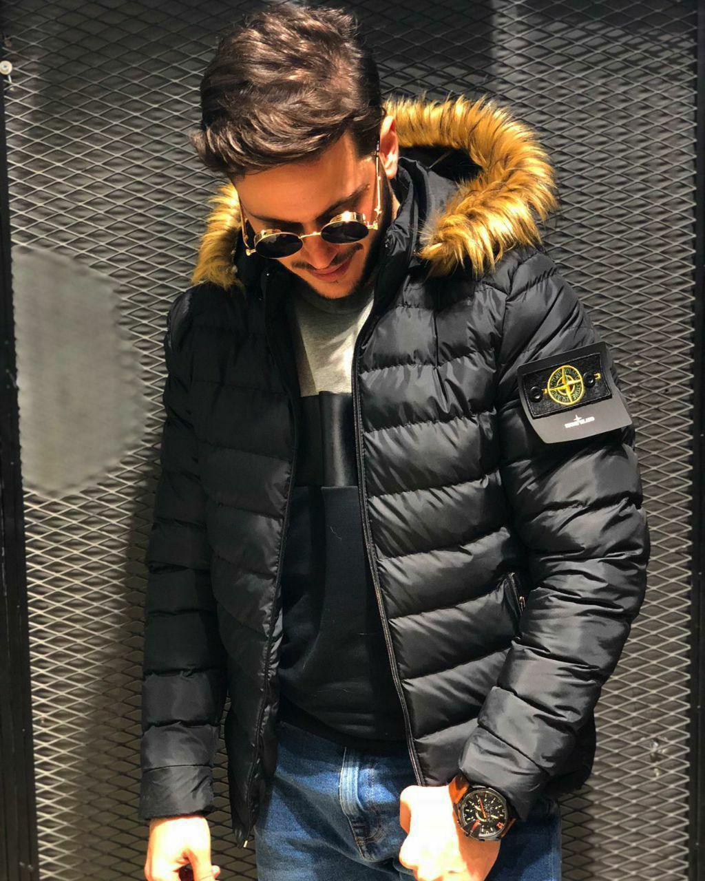 😜 Куртка - Мужскаяя теплая зимняя куртка Аляска черная
