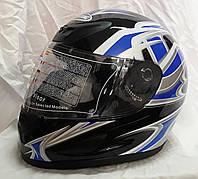 Шлем интеграл Чёрно синий глянец, фото 1