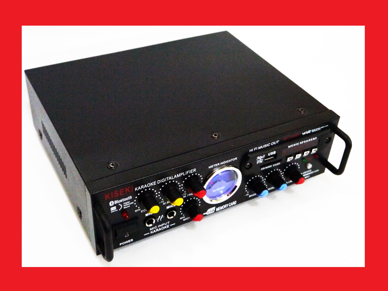 Підсилювач звуку Kiseki AV-339B + USB + Fm + Mp3 + КАРАОКЕ + Bluetooth