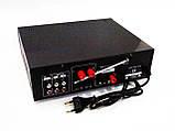 Підсилювач звуку Kiseki AV-339B + USB + Fm + Mp3 + КАРАОКЕ + Bluetooth, фото 2