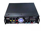 Підсилювач звуку Kiseki AV-339B + USB + Fm + Mp3 + КАРАОКЕ + Bluetooth, фото 4