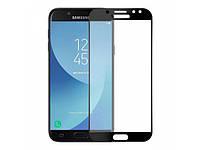 Защитное стекло для Samsung Galaxy J3 (2017) J330 ( Самсун на весь экран клеится по всей поверхности черный 5D