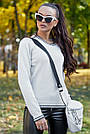 Белый джемпер женский нарядный, р.42-48, вязка, фото 2