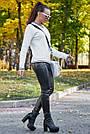 Белый джемпер женский нарядный, р.42-48, вязка, фото 3