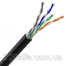Інтернет кабель мідний Вита Пара UTP cat.5e, 4х2х0.51 зовнішній мідь.