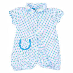 Боди для девочки голубой в горошек 68 размер R180149