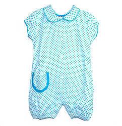 Боди для девочки голубой в горошек 80 размер R180150