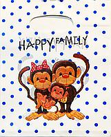 Пакет поліетиленовий Банан Мавпочки 20 х25 см / уп-100шт