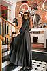 Женское платье в пол Черный, фото 2