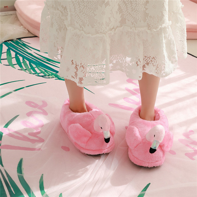 Тапочки домашние Фламинго розовые
