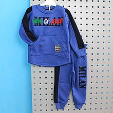 9105син Костюм теплый для мальчика MILAN Синий тм Walenti размер 86,92,98,104 см