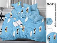 Полуторный комплект постельного белья с компаньоном на молнии сатин люкс 100% хлопок S363