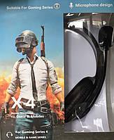 Игровые наушники с микрофоном Ovleng X4, регулятор громкости, игровая гарнитура для компьютера