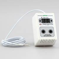 Терморегулятор для брудера цифровой в розетку (-40°...+110°, реле 10А) РТУ-10/П-NTC, фото 1