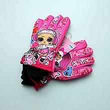 1922-9042 Перчатки детские зимние Lol для девочки тм Nicklodeon размер 7-8,9-10,11-12 лет