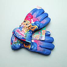 800-562 Перчатки зимние Shimmer Shine для девочки тм Nicklodeon размер 3-4,5-6 лет