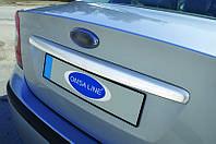 Ford Focus II 2005-2008 гг. Накладка на крышку багажника (Sedan, нерж.) OmsaLine - Итальянская нержавейка