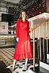 Женское платье на запах Красный, фото 4