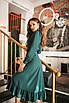 Женское платье на запах Изумрудный, фото 2