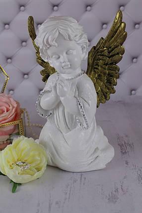 """Ангел """"Молящийся с крыльями 1"""", золото, фото 2"""
