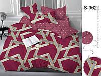 Полуторный комплект постельного белья с компаньоном на молнии сатин люкс 100% хлопок S362