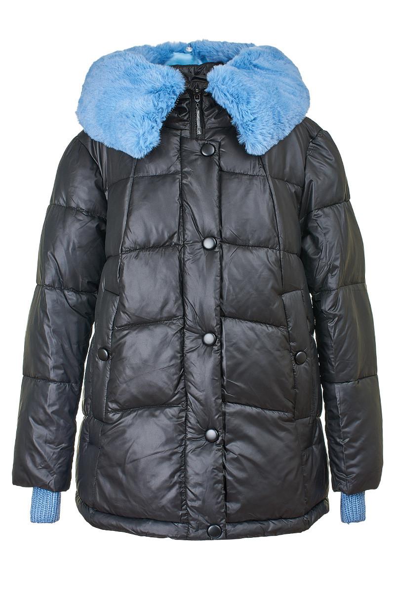 Стеганая женская куртка с отстегивающимся мехом, 29275