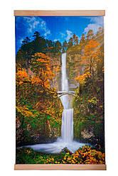 Обігрівач-картина інфрачервоний настінний ТРІО 400W 100 х 57 см, водоспад з містком