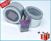 Конструктор неокуб 216 магнитных шариков 5 мм разноцветный 6 цветов игрушка головоломка Neocube в боксе,Акция!