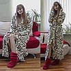 Теплый домашний халат с вензелями, фото 3