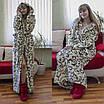 Теплый домашний халат с вензелями, фото 4